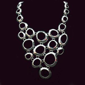 LIA SOPHIA SILVER TONE TORRENT NECKLACE - JNTG1